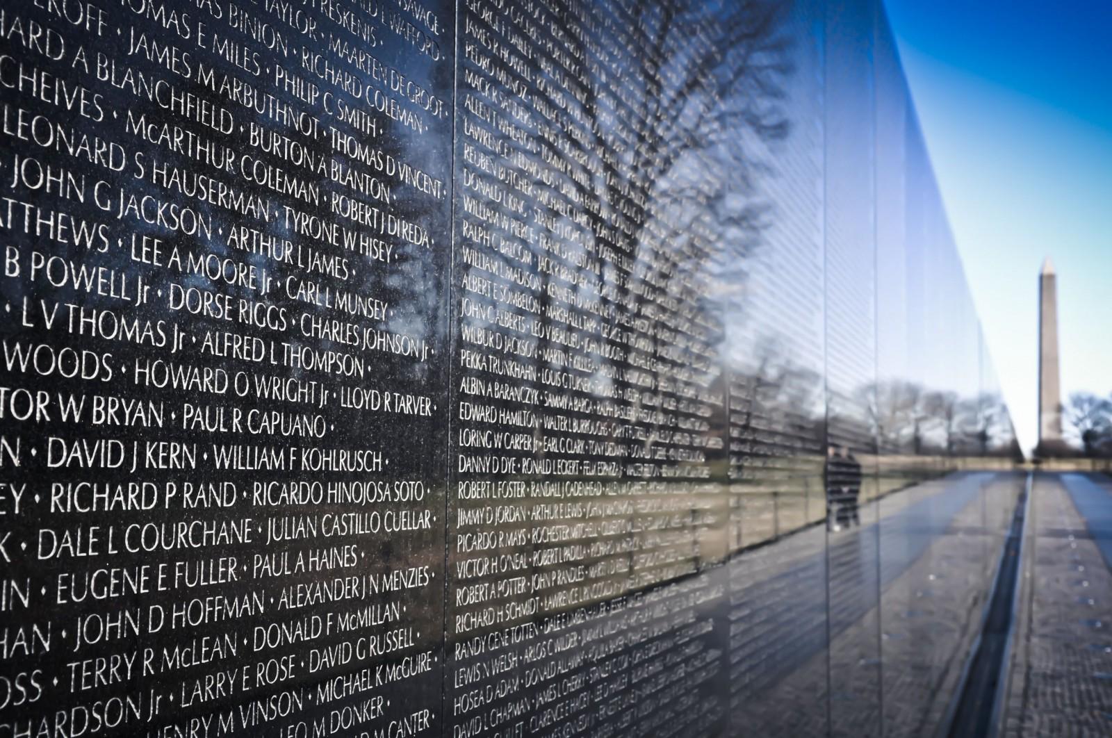 Vietnam War Memorial Washington Vietnam War Memorial in
